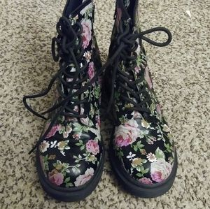 Floral Mossimo Combat Boots